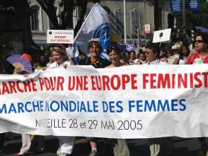 Marche mondiale des femmes en Europe. (Photo: auteur inconnu)