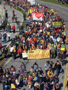 Marche mondiale des femmes, Québec, 2005. (Photo: auteur inconnu)