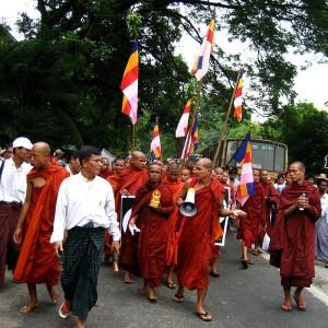 Manifestation à Myanmar, 2007. (auteur: inconnu)