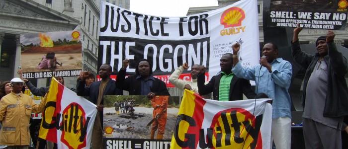 Manifestation de solidarité envers le peuple Ogoni. (auteur: inconnu)