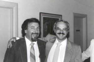 Rezeq Faraj et Bruce Katz, candidats du NPD pour les élections fédérales de1988. (Photo: auteur inconnu)