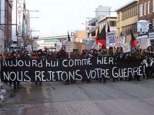 Manifestation contre le recrutement militaire. (Photo: Voix de Faits)