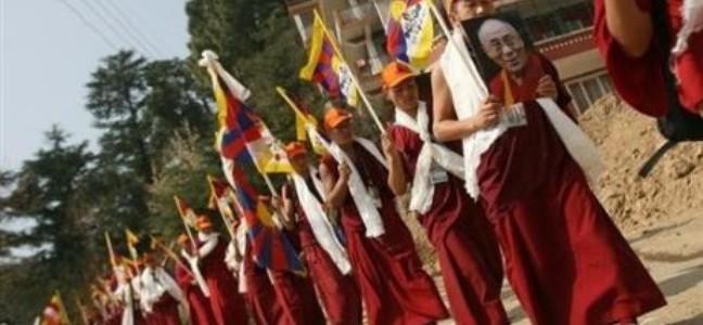 La Chine a confirmé  avoir réprimé une manifestation de moines tibétains à Lhassa, le 10 mars 2008. (auteur: Manan Vatsyayana)