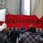 """Manifestation """"Un statut pour tous"""" (image libre de droit)"""