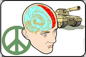cerveau choix guerre paix