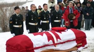 C'est à Saint-Georges qu'a eu lieu les funérailles militaires du jeune caporal Étienne Gonthier. (Photo: Jean-François Fecteau)