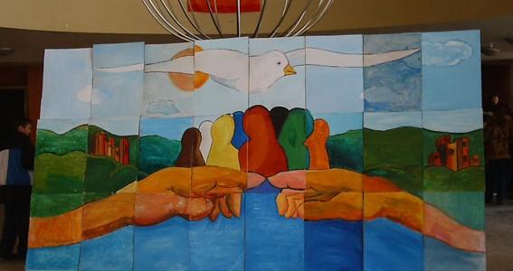 Reconstruire la paix: fresque réalisée par les écoles des communautés divisées