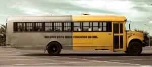 """""""La violence se termine quand l'éducation commence"""""""