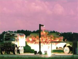 Explosion d'une bombe DIME vue du sol. (Photo: globalsecurity.org)
