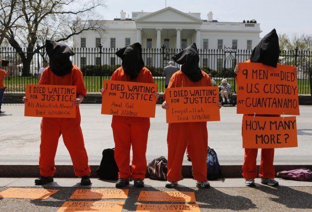 Manifestation pour la fermeture de Guantanamo Bay, 2013. (Photo: inconnu)