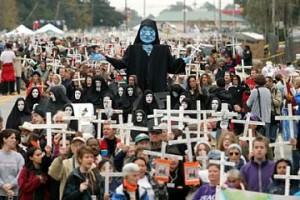 Manifestation pour la fermeture de l'École des Amériques, 2009. (Photo: inconnu)