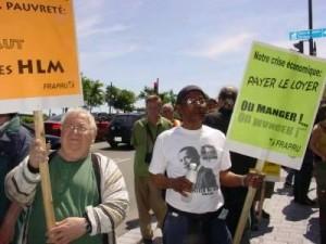 Manifestation du FRAPPU lors du Rendez-vous de la solidarité, 2009. (Photo: inconnu)