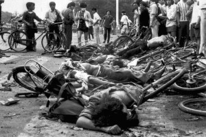 Massacre de la Place Tianamen, 4 juin 1989. (Photo: inconnu)