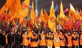 Révolution orange, Ukraine, 2004. (Photo inconnu)