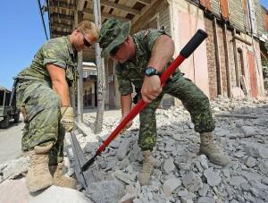 Réponse du Canada au tremblement de terre en Haïti, 10 février 2010. (Photo: Sgt Bruno Turcotte)