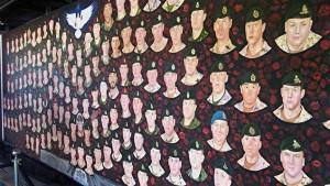 Peinture murale en hommage aux soldats canadiens mort en Afghanistan. (Photo: Pascal Charlebois)