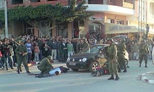 Interventions de militaires tunisiens, le 15 janvier 2011. (Photo: CC)