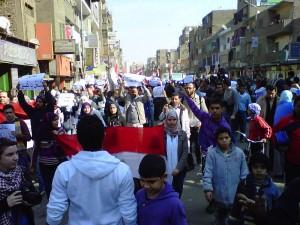 Manifestants dans les rues de Gizeh, 25 janvier 2011. (Photo: CC)