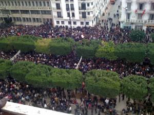 Manifestation à Tunis, 14 Jan 2011. (Photo: domaine public)