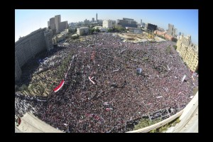 Place Tahrir, 18 février 2011. (Photo: inconnu)