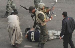 Répression policière, 2 février 2011. (Photo: inconnu)