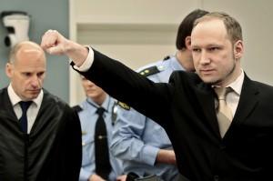 Anders Behring Breivik à son arrivée à la cour, 16 avril 2012. (Photo: Hakon Mosvold Larsen)