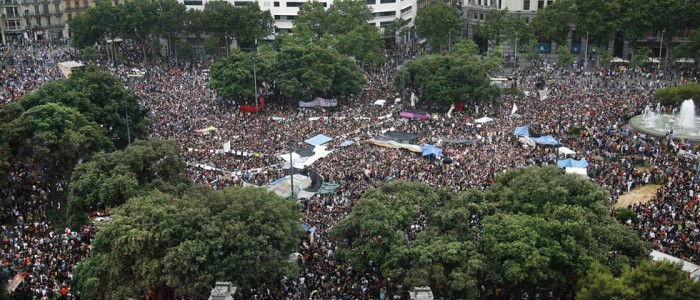 27/05/2011: Barcelona, Plaza Catalunya. (Photo: Massimiliano Minocri)