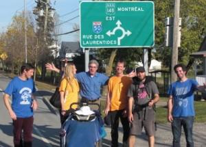 À Angers, durant la marche de Gatineau à Montréal, 8 octobre 2011. (Photo: inconnu)
