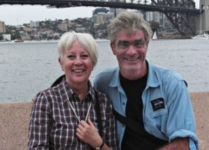 Béliveau and sa femme, Luce Archambault, à Sydney, Australie, le 15 janvier 2009. Le couple se rencontre une fois par année. (Photo: inconnu)
