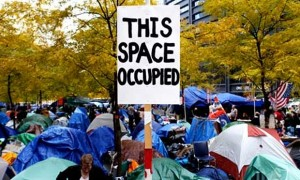 Parc Zuccotti, Occupy Wall Street, New York, 10 Novembre 2011. (Photo Seth Wenig)