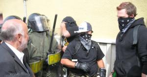 Dave Coles est le dirigeant syndical qui a fait les manchettes après avoir démasqué les agents provocateurs de la Sûreté du Québec lors du sommet du Partenariat pour la sécurité et la prospérité, tenu à Montebello et réunissant les chefs d'État américain, mexicain et canadien en août 2007. (Photo: inconnu)