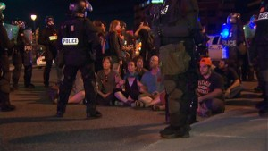 Sit-in à Sherbrooke, mai 2012. (Photo: inconnu)