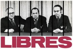 Cette photo fut prise, le 25 mai 1972, à 6 heures du matin, à la sortie de prison des trois chefs qui en appelaient de leur sentence. Elle a été prise par le photographe François Demers et a ensuite été traitée par le graphiste Jean Gladu pour en faire un auto-collant. Plusieurs dizaines de milliers de cet autocollant ont été imprimés et distribués à tous les syndiqué-es durant la campagne qui suivit la libération des trois chefs. Sur la photo de gauche à droite : Louis Laberge, président de la FTQ, Marcel Pepin, président de la CSN, et Yvon Charbonneau, président de la CEQ.