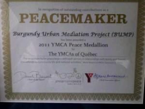 Médaille de la Paix du YMCA. (Photo: inconnu)