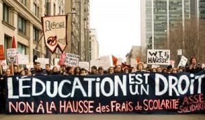 Grève contre la hausse des frais de scolarité, 2012. (Photo: inconnu)