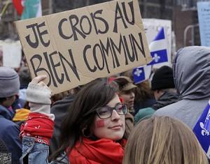 Manifestation étudiante, 2012. (Photo: Josée Legault)