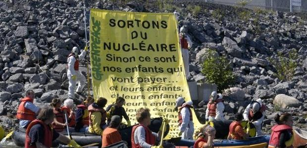 Action à la centrale nucléaire Gentilly-2. (Photo: Greenpeace)