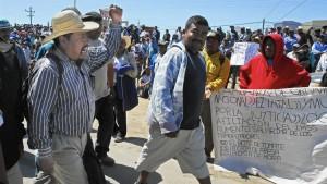 Grève des ouvriers agricoles en Basse-Californie. (Photo: inconnu)