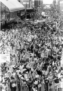 Manifestation au siège des Nations-Unies, NY, juin 1982. (Photo: inconnu)