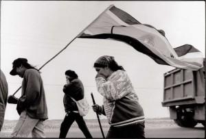 Manotick, Ontario. Des Innus marchent durant 3 mois, 850 km, en protestation contre les vols à basse altitude. (Photo: inconnu)