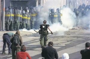Sommet des Amériques, 2001. (Photo: archives La Presse)
