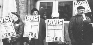 Grévistes membres du Front commun, 1972. (Photo: Archives CSN)