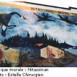 Fresque pour la défense du Nitassinan contre les vols à basse altitude.