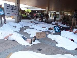 Action non-violente pour les migrants de Méditerranée à Colomiers. (Photo: inconnu)