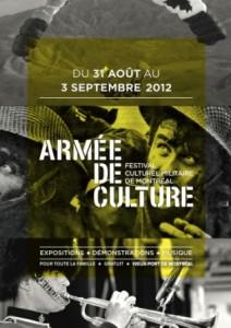 Affiche du Festival culturel militaire de Montréal.