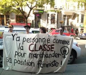 Devant le théâtre St-Denis le soir du spectacle de la Coalition des humoristes indignés. (Photo: inconnu)