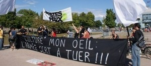 Opposition au Festival culturel militaire de Montréal, 2012. (Photo: inconnu)