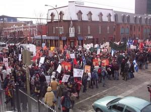 Grève étudiante générale illimitée au Québec, en 2005. (Photo: CC)