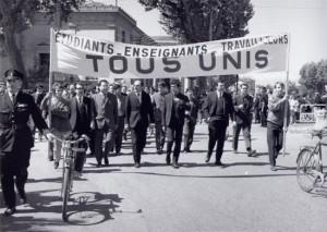 Grève étudiante de 1968.