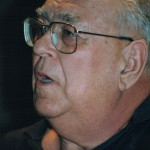 Portrait de Danilo Dolci. Conférence à Genève, 25 Mai 1992. (Source: CC BY-SA 3.0)